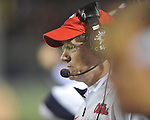 Ole Miss assistant coach Gunter Brewer vs. Louisiana Tech in Oxford, Miss. on Saturday, November 12, 2011.