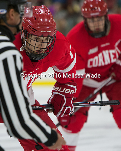 Anthony Angello (Cornell - 17) - The Harvard University Crimson defeated the visiting Cornell University Big Red on Saturday, November 5, 2016, at the Bright-Landry Hockey Center in Boston, Massachusetts.