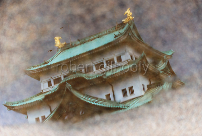 Nagoya Castle, Aichi Prefecture Japan on Feb. 23, 2017. O'Neil is one of the eight ninja corps who roam the avenues of the castle and Nagoya Airport, jumping from behind trees and bushes to surprise visitors. ROB GILHOOLY PHOTO