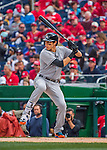 7 April 2016: Miami Marlins outfielder Christian Yelich in action during the Washington Nationals Home Opening Game at Nationals Park in Washington, DC. The Marlins defeated the Nationals 6-4 in their first meeting of the 2016 MLB season. Mandatory Credit: Ed Wolfstein Photo *** RAW (NEF) Image File Available ***