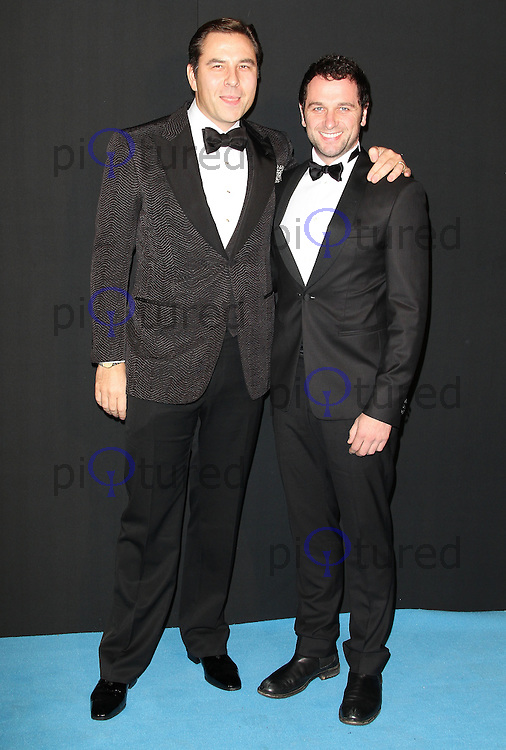 David Walliams; Matthew Rhys Grey Goose Winter Ball to benefit the Elton John AIDS Foundation, Battersea Evolution, London, UK, 29 October 2011:  Contact: Rich@Piqtured.com +44(0)7941 079620 (Picture by Richard Goldschmidt)