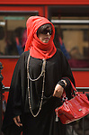 Wealthy Middle Eastern Arab tourist in Knightsbridge London 2009.