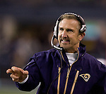 St. Louis Rams head coach Steve Spagnuolo along the sidelines in their game against the Settle Seahawks at  CenturyLink Field in Seattle, Washington on December 12, 2011. The Seahawks beat the Rams 30-13. ©2011 Jim Bryant Photo. All Rights Reserved.