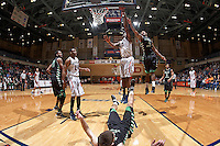SAN ANTONIO, TX - FEBRUARY 27, 2014: The University of North Texas Mean Green versus the University of Texas at San Antonio Roadrunners Men's Basketball at the UTSA Convocation Center. (Photo by Jeff Huehn)