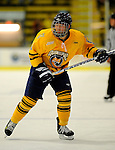 29 December 2007: Quinnipiac University Bobcats' forward Brandon Wong, a Sophomore from Victoria, B.C., in action against the Western Michigan University Broncos at Gutterson Fieldhouse in Burlington, Vermont. The Bobcats defeated the Broncos 2-1 in the first game of the Sheraton/TD Banknorth Catamount Cup Tournament...Mandatory Photo Credit: Ed Wolfstein Photo