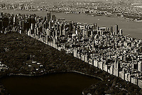 aerial photograph Upper East Side Central Park, Manhattan, New York City
