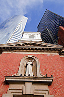 Shrine of Saint Elizabeth Ann Seton, First American Born Saint, and The 17 State Street Building, architect Emery Roth & Sons,  Mahanttan, NYC