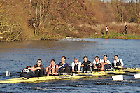 161 .UTC-McAllister .IM1.8+ .Upper Thames RC. Wallingford Head of the River. Sunday 27 November 2011. 4250 metres upstream on the Thames from Moulsford railway bridge to Oxford University's Fleming Boathouse in Wallingford. Event run by Wallingford Rowing Club.
