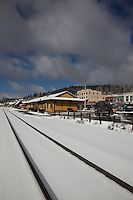 """Snowy Truckee Train Tracks"" - These snow covered train tracks were photographed in beautiful downtown Truckee, CA."
