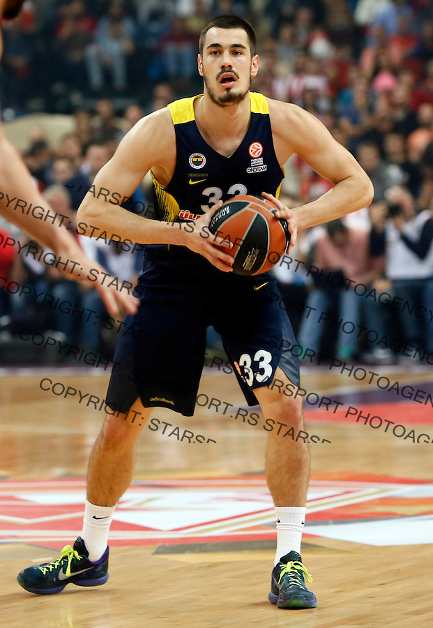 Nikola Kalinic Euroleague basketball game between Crvena Zvezda and Fenerbahce on Novembar 6. 2015 Beograd, Srbija, 6.11.2015.  (credit image & photo: Pedja Milosavljevic / STARSPORT)