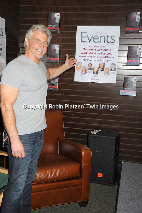 "actor Michael Swan attends the book signing of "" The Young & Restless LIfe of William J Bell on June 21, 2012 at The Barnes & Nobles in The Grove in Los Angeles."