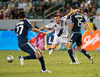 CARSON, CA - June 23, 2012: LA Galaxy forward Robbie Keane (7) during the LA Galaxy vs Vancouver Whitecaps FC match at the Home Depot Center in Carson, California. Final score LA Galaxy 3, Vancouver Whitecaps FC 0.