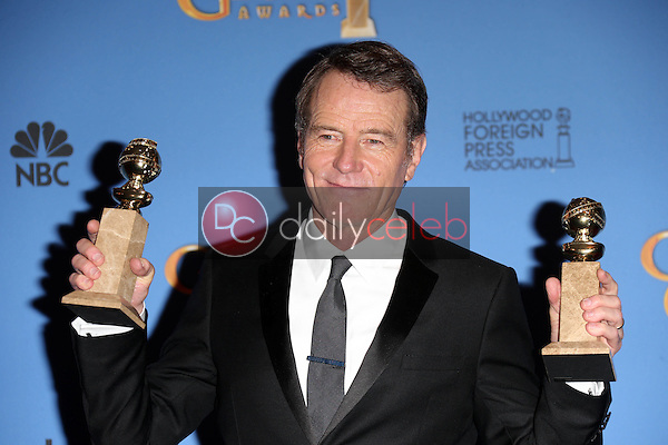 Bryan Cranston<br /> at the 71st Annual Golden Globe Awards Press Room, Beverly Hilton Hotel, Beverly Hills, CA 01-12-14<br /> David Edwards/DailyCeleb.com 818-249-4998