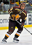 2 January 2009: Ferris State Bulldogs' defenseman Evan Case, a Senior from Grosse Pointe Woods, MI, in action against the St. Lawrence Saints during the first game of the 2009 Catamount Cup Ice Hockey Tournament hosted by the University of Vermont at Gutterson Fieldhouse in Burlington, Vermont. The Saints defeated the Bulldogs 5-4 to move onto the championship game against the University of Vermont Catamounts...Mandatory Photo Credit: Ed Wolfstein Photo