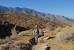 Woman hiking in Indian Canyons in Palm Springs