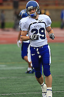 Universite de Montreal Carabins' Mathieu Metcalfe in CIS football action against the Rouge et Or at the universite Laval stadium in Quebec City, September 7, 2008. Laval won 17-6 before a crowd of 15,275.