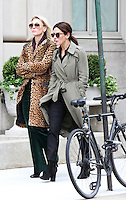NEW YORK, NY-October 25:Cate Blanchett, Sandra Bullock shooting on location for  Ocean's Eight in New York.October 25, 2016. Credit:RW/MediaPunch