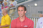 American All Stars coach Jim Gabarra at SAS Stadium in Cary, North Carolina on 6/18/03 during the 2003 WUSA All Star Skills Competition.