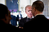 United States Vice President Joseph R. Biden (C) speaks to guests in the State Dining Room of the White House February 26, 2012 in Washington, DC.  President Obama and first lady Michelle Obama hosted 2012 Governors Dinner which coincides with the yearly meeting of the National Governors Association meeting in DC. .Credit: Brendan Smialowski / Pool via CNP