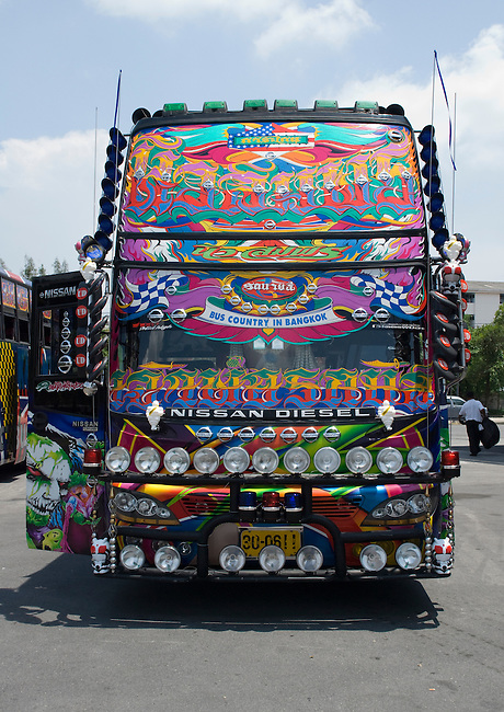 Fully decorated Thai bus