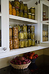Historic Oregon City home, the White Kellogg House, an 1845 classic revival home set on 8 acres of farmland. -dried and preserved fruits and vegetables in the pantry.
