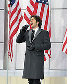 "Washington, DC - January 18, 2009 -- Josh Groban performs at the ""Today: We are One - The Obama Inaugural Celebration at the Lincoln Memorial"" in Washington, D.C. on Sunday, January 18, 2009..Credit: Ron Sachs / CNP.(RESTRICTION: NO New York or New Jersey Newspapers or newspapers within a 75 mile radius of New York City)"