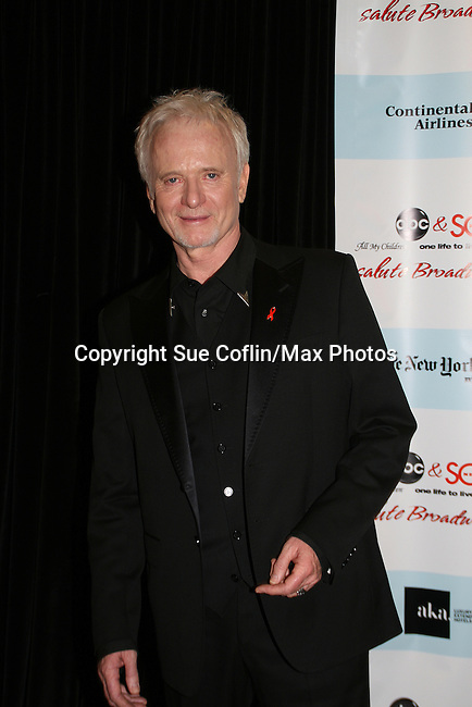 """General Hospital's Anthony Geary """"Luke"""" attends the after party of ABC and SOAPnet's Salutes to Broadway Cares/Equity Fights Aids on March 9, 2009 at the New York Marriott Marquis, New York, NY.  (Photo by Sue Coflin/Max Photos)"""