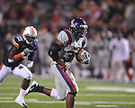 Ole Miss running back Brandon Bolden (34) scores a touchdown against Auburn at Vaught-Hemingway Stadium in Oxford, Miss. on Saturday, October 30, 2010. Auburn won 51-31.