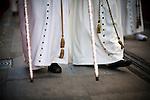 Feet of penitents, Holy Week, Seville, Spain