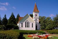 Richmond, BC, British Columbia, Canada - Historic Minoru Chapel in Minoru Park, a Heritage Building (built 1891)
