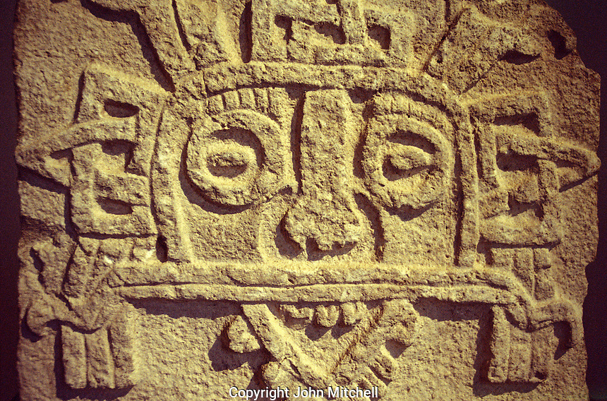 Closeup of the Mayan rain god Tlaloc, Museo Regional de Antropologia, Merida, Yucatan, Mexico