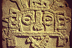Closeup of the Mayan rain god Tlaloc, Museo Regional de Antropologia, Merida, Yucatan, Mexico