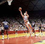26 MAR 1979:  Indiana State forward/center Larry Bird (33) going to the basket against DePaul during the NCAA Final Four Men's Basketball National Championship Semifinal game held in Salt Lake City, UT. at the Special Events Center. Indiana State defeated DePaul 76-74 to meet Michigan State in the championship game. Photo Copyright Rich Clarkson.