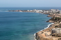 Dakar, Senegal.  Les Almadies, a Dakar suburb.  The westernmost point of the African continent is in the far left distance.