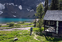 Kootenay National Park, British Columbia, Canada, July 2008. The park wardens cabin at Floe Lake campsite. The Rockwall trail offers an exhilarating multiple day hike in the Rocky Mountains. Photo by Frits Meyst/Adventure4ever.com