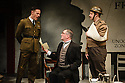 London, UK. 18.02.2016. Bob Benton and Daniel Brodie for DB Productions in association with Park Theatre present the World Premiere of<br /> &quot;The Patriotic Traitor&quot;<br /> written and directed by Jonathan Lynn. Picture shows: Laurence Fox (charles de Gaulle), Tom Mannion (Lord Halifax), James Chalmers. Photograph &copy; Jane Hobson.