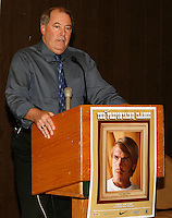 Tom Jordon Meet Director for the Prefontaine Classic at the Press Conference held at the Valley River Inn in Eugene,Or. on Saturday June 7th.  2008. Photo by Errol Anderson, The Sporting Image.