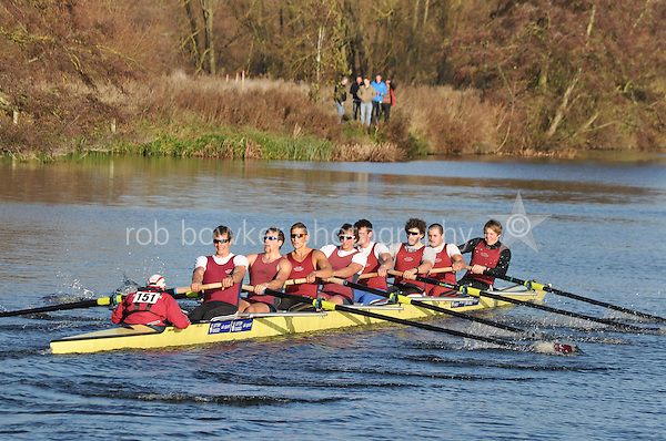 151 .OXB-Durant .ELI.8+ .Oxford Brookes Univ. Wallingford Head of the River. Sunday 27 November 2011. 4250 metres upstream on the Thames from Moulsford railway bridge to Oxford University's Fleming Boathouse in Wallingford. Event run by Wallingford Rowing Club.