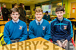 Pictured at the Science quiz at IT Tralee South Campus on Thursday were students from St Michael's College, Listowel, Darragh McAuliffe, Nial Collins, Danny Quilter