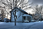 HDR image of a historic farm house in Menomonee Falls Wisconsin