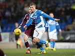 St Johnstone v Stenhousemuir&hellip;21.01.17  McDiarmid Park  Scottish Cup<br />David Wotherspoon is closed down by Vincent Berry<br />Picture by Graeme Hart.<br />Copyright Perthshire Picture Agency<br />Tel: 01738 623350  Mobile: 07990 594431