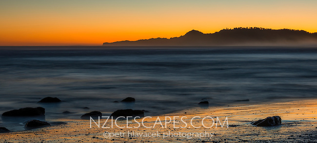 Sunrise over Gillespies Beach, Westland National Park, World Heritage Area, West Coast, New Zealand