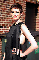 """Anne Hathaway arrives at """"The Late Show"""" - New York"""