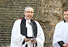 Sixteenth anniversary of the Admiral Duncan pub nail bombing in Old Compton Street, London, Great Britain <br /> 30th April 2015 <br /> <br /> Memorial service for those who died including Andrea Dykes, John Light and Nik Moore in St. Anne's Church gardens in Soho, London. <br /> <br /> speakers include Mark Healey - Lambeth Hate Crime Co-ordinator,<br /> <br /> Photograph by Elliott Franks <br /> Image licensed to Elliott Franks Photography Services