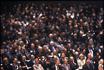 Undated photo of the crowd at the annual International Monetary Fund (IMF) meeting in Washington, DC