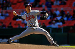 16 September 2007: Atlanta Braves starting pitcher Tim Hudson on the mound against the Washington Nationals at Robert F. Kennedy Memorial Stadium in Washington, DC. Hudson pitched a complete game shutout as the Braves scored three runs to win the third game of the series.. .Mandatory Photo Credit: Ed Wolfstein Photo