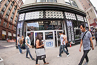 The MLB Fan Cave in Noho in New York on Friday, May 25, 2012. The MLB Fan Cave hosts fan events, concerts, MLB player and celebrity appearances during the baseball season.  (© Frances M. Roberts)