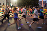 The Austin marathon is a long-distance running event with an official distance of 42.195 kilometres (26 miles and 385 yards), that is usually run as a road race. The event was instituted in commemoration of the fabled run of the Greek soldier Pheidippides, a messenger from the Battle of Marathon to Athens.<br /> <br /> The marathon was one of the original modern Olympic events in 1896, though the distance did not become standardized until 1921. More than 500 marathons are held throughout the world each year, with the vast majority of competitors being recreational athletes. Smaller marathons, such as the Stanley Marathon, can have just dozens of participants, while larger marathons can have tens of thousands of participants.