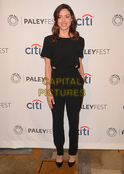 18 March 2014 - Hollywood, California - Aubrey Plaza. The The Paley Center for Media Presents: An Evening With &quot;Parks and Recreation&quot; for Paleyfest 2014 at The Dolby Theater in Hollywood. <br /> CAP/ADM/BT<br /> &copy;Birdie Thompson/AdMedia/Capital Pictures