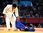 Olympic Games 2012; Judo - ExCel North Arena 2; men's 73kg. Ki-Chun Wang (KOR) vs. Rinat Ibragimov (KAZ)